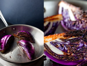 pan seared cabbage